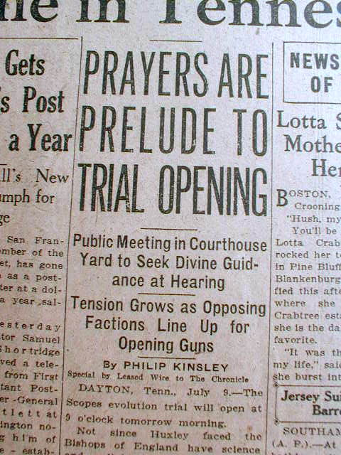 Scopes Evolution Trial of 1925