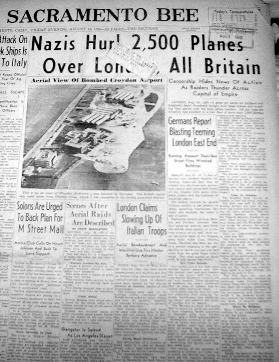 a report on the battle of britain in 1940 World war ii: the battle of britain alan taylor jul 10, 2011 45 photos thousands of pilots and air crews engaged in battle in the skies above britain, germany during the battle for britain, on august 19, 1940 # ap photo.