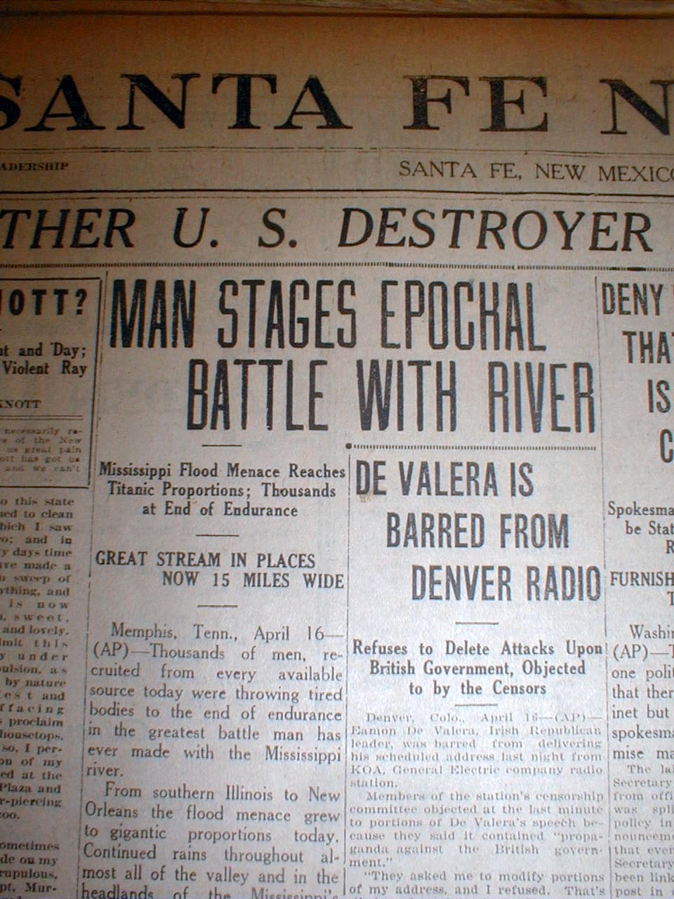 14 1927 newspapers the great mississippi river flood