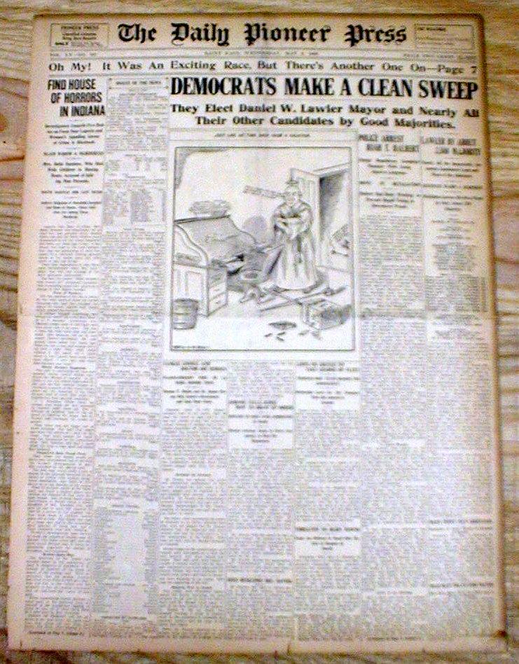 1908 newspaper female serial killer belle gunness bodies for Laporte newspaper